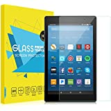 """MoKo All-New Fire HD 8 Screen Protector, [Scratch Terminator] Premium HD Clear 9H Hardness Tempered Glass Screen Protector Film for Amazon Fire HD 8"""" Tablet (7th and 8th Gen, 2017 and 2018 Release)"""