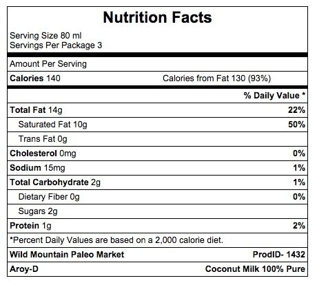 Aroy-D 100% Coconut Milk, BPA-free, - 8.5 Oz Packages (32-pack), Paleo Compliant by Aroy-D (Image #1)