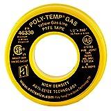 gas line sealant - ANTI-SEIZE TECHNOLOGY 46330 Yellow PTFE Poly-Temp Extra Heavy Duty Gas Line Tape, 260
