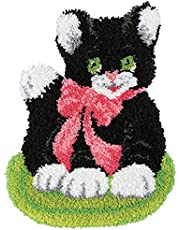 Latch Hook Kits for Adults 20.5 X 15 Inch DIY Needlework Unfinished Crocheting Rug Kit with Color Preprinted Pattern