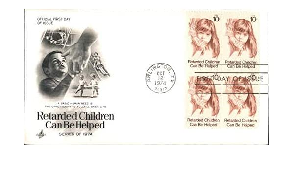 Retarded Children Can Be Helped Series Of 1974 Block Stamps Original First Day Cover At Amazons Entertainment Collectibles Store