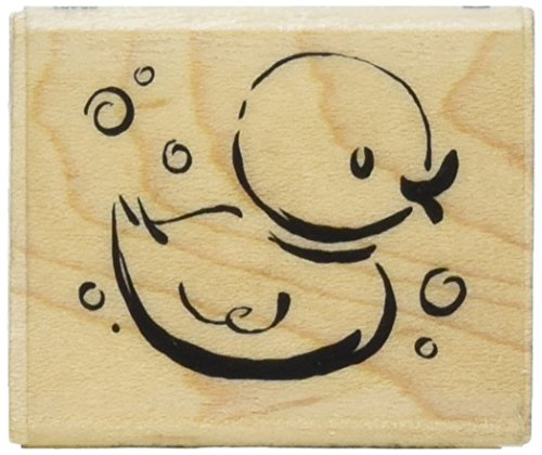 """Inkadinkado Mounted Rubber Stamp G-Jazzy Style Rubber Ducky 1.25""""X1.5"""""""