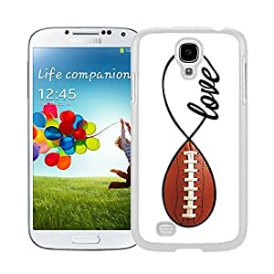 Awesome White S4 Case American Football Infinity Love Watercolor Best Samsung Galaxy S4 I9500 Case White Cell Phone Cover