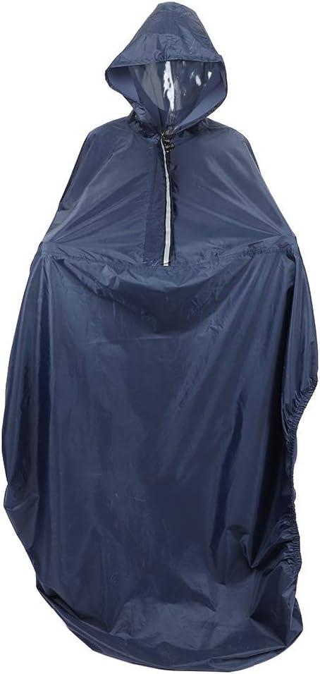 Poncho impermeable para silla de ruedas con capucha - Cubierta de lluvia para silla de ruedas - Capa de protección contra la lluvia - Cubierta de poliéster resistente al agua y al desgarro