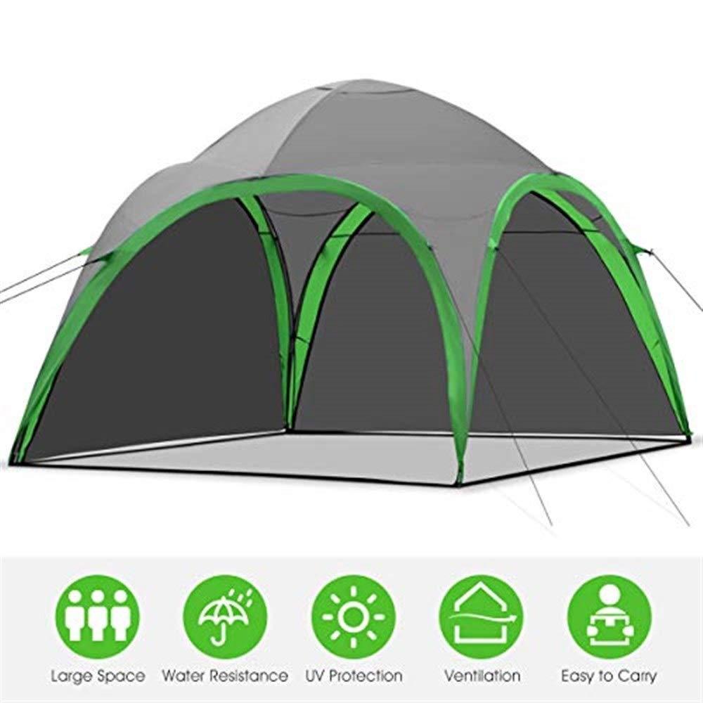 Outdoor-Zelt Portable Family Camping Zelt leichte Backpacking Dome Zelt Event Shelter mit abnehmbaren Wasserdichten Wand f/ür Outdoor-Picknick Strand Wandern Angeln Tragetasche