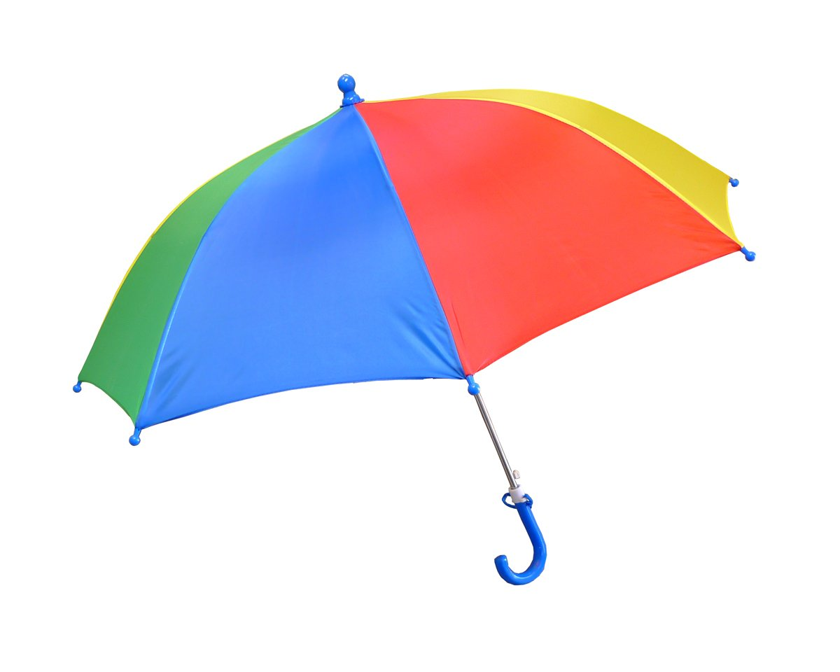 Foxfire for Kids Solid Pattern Umbrella Red Blue Green Yellow Rainbow