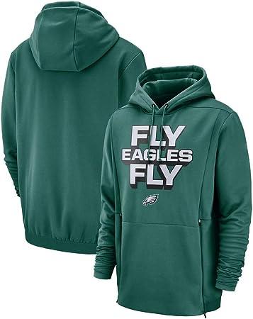 LHKJB Camiseta de Entrenamiento de Rugby Philadelphia Eagles con Entrenamiento Casual de Manga Larga con Capucha (Size : S): Amazon.es: Hogar