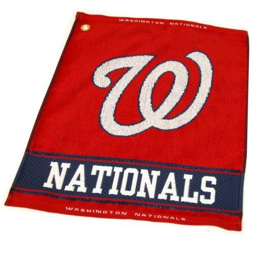 (Team Golf MLB Washington Nationals Jacquard Woven Golf Towel, 16