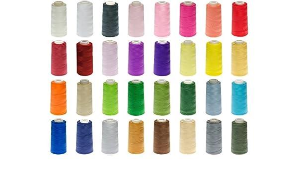 16 Konen Qualitäts-Overlock-hilados - libre elección del colour: Amazon.es: Hogar
