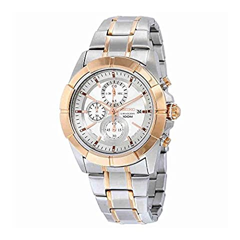 Seiko Lord Chronograph Silver Tone Watch SNDE72 (Digital Watch Men Seiko)