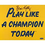 NCAA Brian Kelly Play Like a Champion Today Autographed 8-by-10-Inch Photograph