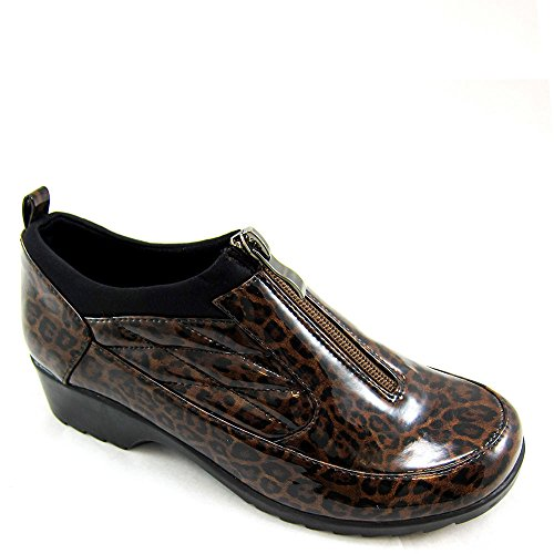 Beacon Shoes Womens Raindrop Shoe Bootie Leopard Patent Polyurethane yEfwMrMY4h