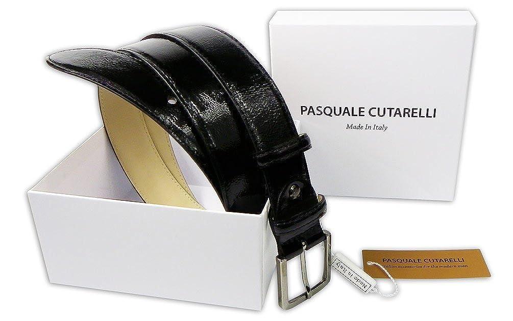 f432f1255025 Pasquale Cutarelli Ceinture en Cuir Vernis Italien Pour Hommes (7149)   Amazon.fr  Vêtements et accessoires