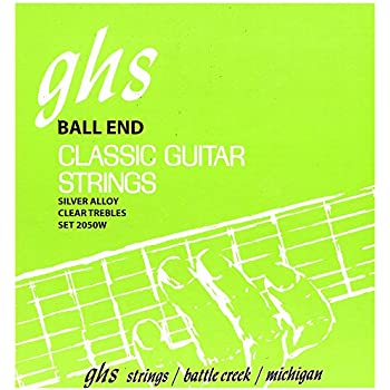 ghs strings 2050w ball end regular classical guitar strings high tension silver. Black Bedroom Furniture Sets. Home Design Ideas