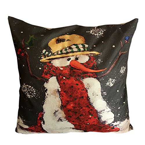 Price comparison product image Pgojuni Home Decor Cushion Cover Christmas Throw Pillow Cover Cushion Cover Square Pillow Case for Sofa / Car / Bed 1pc (J)