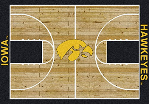 "Court Runner Area Rug (Iowa Hawkeyes NCAA Area Rug - Home Court (7'8"" x 10'9""))"