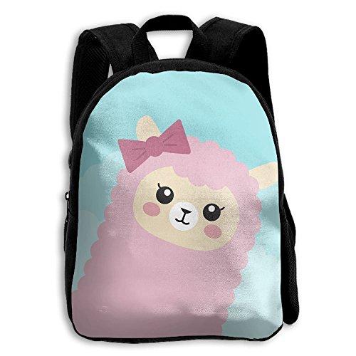 AHOOCUSTOM Llama 3D Print Custom Unique Casual Backpack Schoolbag Shoulder Bag for Boys Teen Girls Kids ()