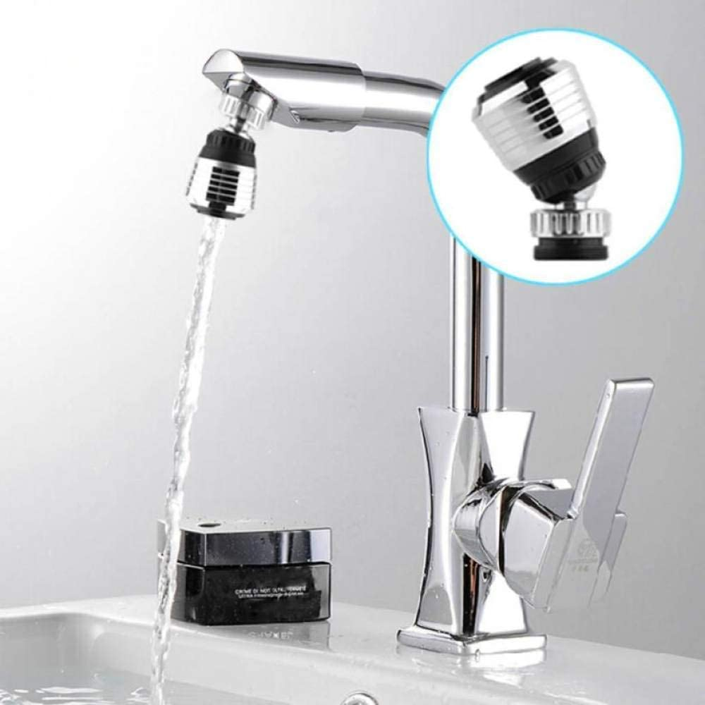 360 Swivel Swivel Faucet Nozzle Aerator Diffuser Kitchen Faucet Tap Saving Bathroom Shower Head Nozzle Filter Saving Water Spray Black