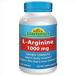 Nova Nutritions L-Arginine 1000 mg 120 Tablets