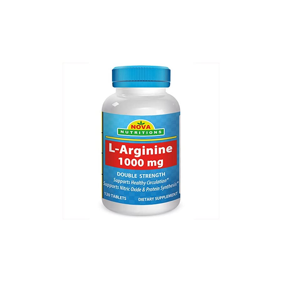 Nova Nutritions L Arginine 1000 mg 120 Tablets