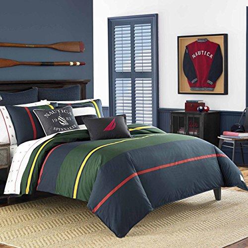 Nautica Heritage Classic Stripe Comforter Set, Twin, (Nautica Standard Comforter)