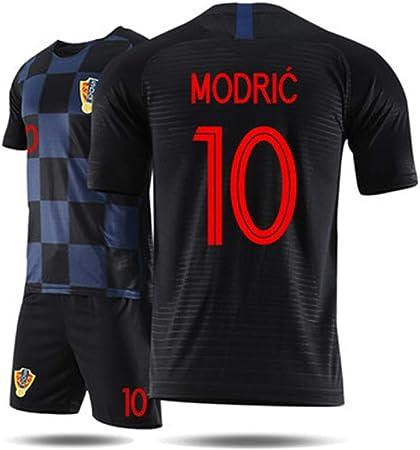 GLJJQMY Camiseta de los Hombres de Croacia Copa del Mundo Jersey Ropa Deportiva Pantalones Cortos de Manga Corta Traje de Entrenamiento de fútbol Camiseta de Baloncesto (Color : B, Size : L):
