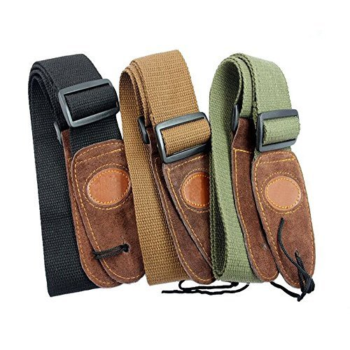 cool cotton leather guitar strap