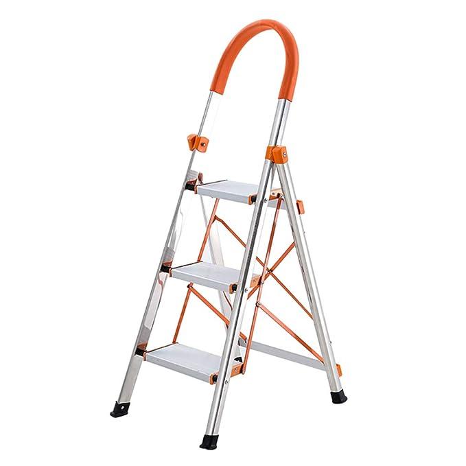 LXF Escaleras plegables Escalera plegable de 3 pasos con ...