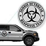 """Zombie Outbreak Response Team Decal Sticker for Car Window, Laptop and More. # 555 (12"""" x 12"""", Black)"""