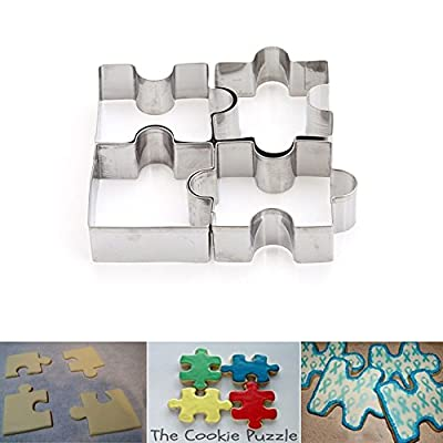 New Arrival Set of 4 Cookie Puzzle Shape Stainless Steel Cookie Cutter Set DIY Biscuit Mold Dessert Bakeware Cake Mold