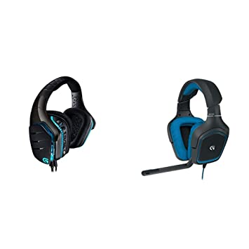 Logitech G633 Gaming Headset, Artemis Spectrum Pro Wired, 7 1 Dolby  Surround Sound for PC, Xbox One and PS4, Black & G430 Gaming Headset for PC  Gaming