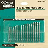 Dritz 56E-510 Embroidery Hand Needles, Size 5/10