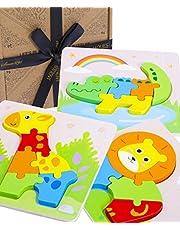 Träleksaker djurpussel | Pussel för pojkar och flickor | Pedagogiskt djurpussel | Handgjorda leksaker och spel | Jaques of London