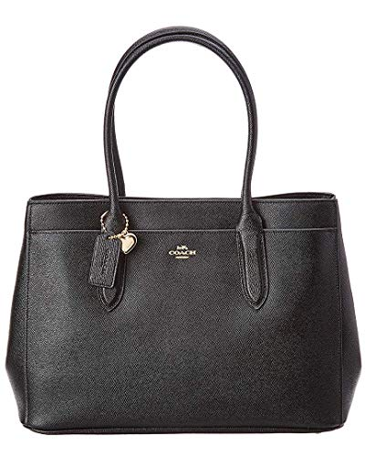 COACH Women's Bailey Carryall in Crossgrain Leather Li/Black...