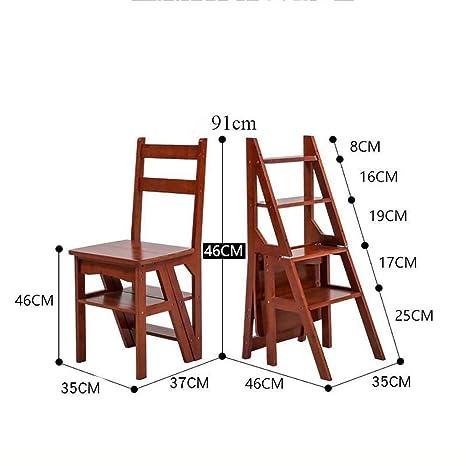 Plegables Escalera,silla Multifunción Escalera Madera ...