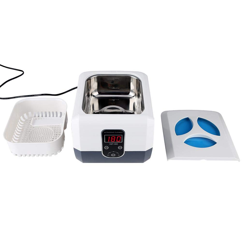 VGT-1200 1300ml Digital Ultrasonic Cleaner Sterilization Disinfection Tool with Timer 110V, 220V for Cleaning Glasses/Jewelry/Watches(EU Plug AC200~240V 50Hz)