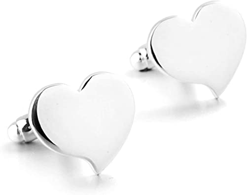 Aeici Gemelos Boda Novio Gemelos de Hombre para Camisa Corazón Gemelo Novio Plata: Amazon.es: Joyería