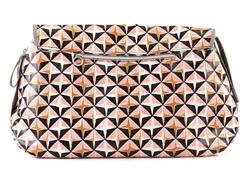 Damen Lori Geometrical Diaperbag Lhf Umhängetasche, Pink (Rose), 16x30x44 cm Oilily