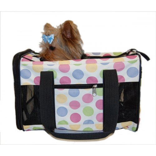 Anima International Dog Cat Multi Color Dot Pet Carrier Travel Bag Airline Approved Review