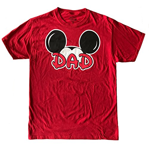 Disney Mickey Mouse Tee Men's T-Shirt Dad Fan Fashion Top (Large)