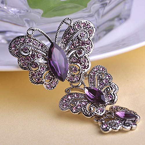 Mink Monk Luxury Brand Stars Purple Brooch Shiny Brand Austrian Crystal Brooches and Pins Accessories Cute Butterfly Broach Bijoux Unhas