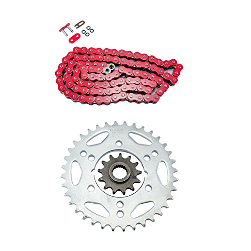 Red O-Ring Chain and Sprocket Kit for Polaris 500 Scrambler 4x4 2000 2001 2002 2003 2004 2005 2006 2007 2008 2009 2010 2011