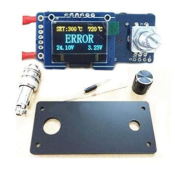 MYAMIA T12 Estación De Soldadura Digital Pantalla OLED Control Board Stc Regulador Kit: Amazon.es: Hogar