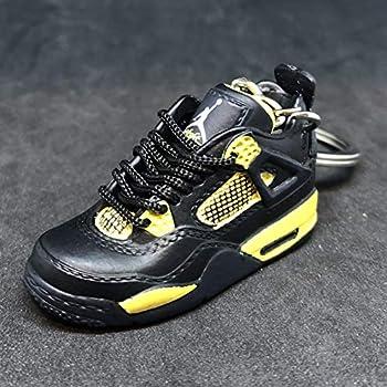 7676b909465b6a Air Jordan IV 4 Retro Thunder Black Yellow OG Sneakers Shoes 3D Keychain  Figure 1 6