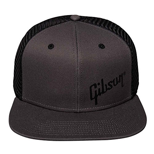 Guitar Hat Gibson - Gibson Charcoal Trucker Snapback Hat