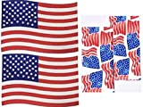 4th of July Celebrate America Flag Placemat & Kitchen Towel Set