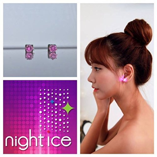 Original Night Ice LED Earrings (Purple) by Night Ice ® (Image #6)