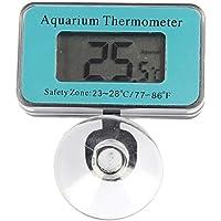 Phayee Termómetro de Acuario con Pantalla LCD, termómetro