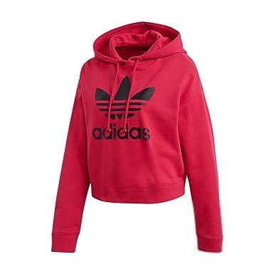 67a3a1083cbfe adidas Women Originals LEOFLAGE Crop Hoodie Pride Pink DX4301 at ...