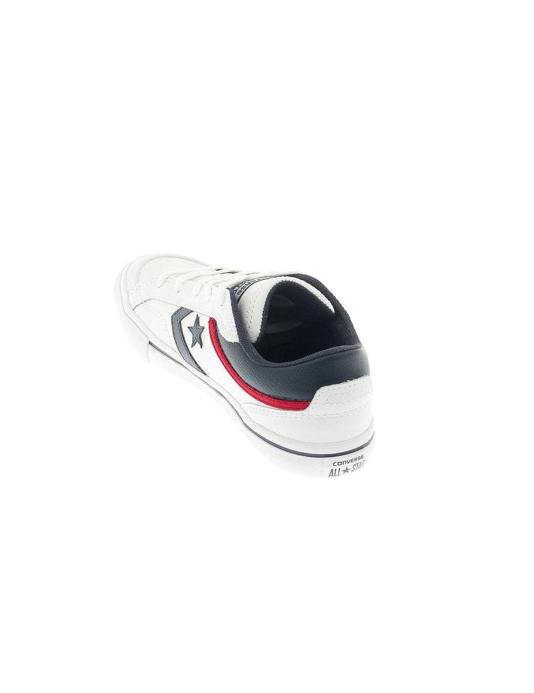 c0d0565fe698 Converse -656103C- Pro Blaze - Leather Ox - White Navy - Junior   Amazon.co.uk  Shoes   Bags